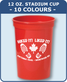 12 Oz Smooth Stadium Cup - 10 Colours