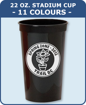 22 Oz. Smooth Stadium Cup - 11 Colours