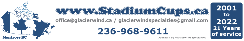 www.StadiumCups.ca by Canada Fridge Magnets
